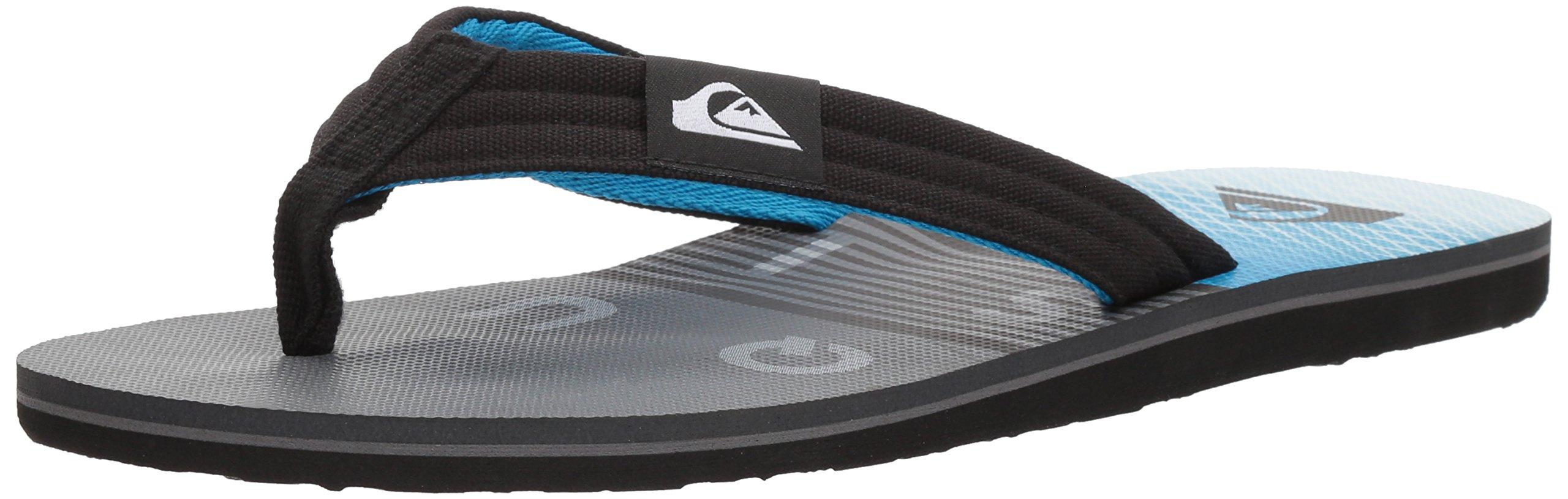 Quiksilver Men's Molokai Layback Sandal, Black/Grey/Blue, 14 M US