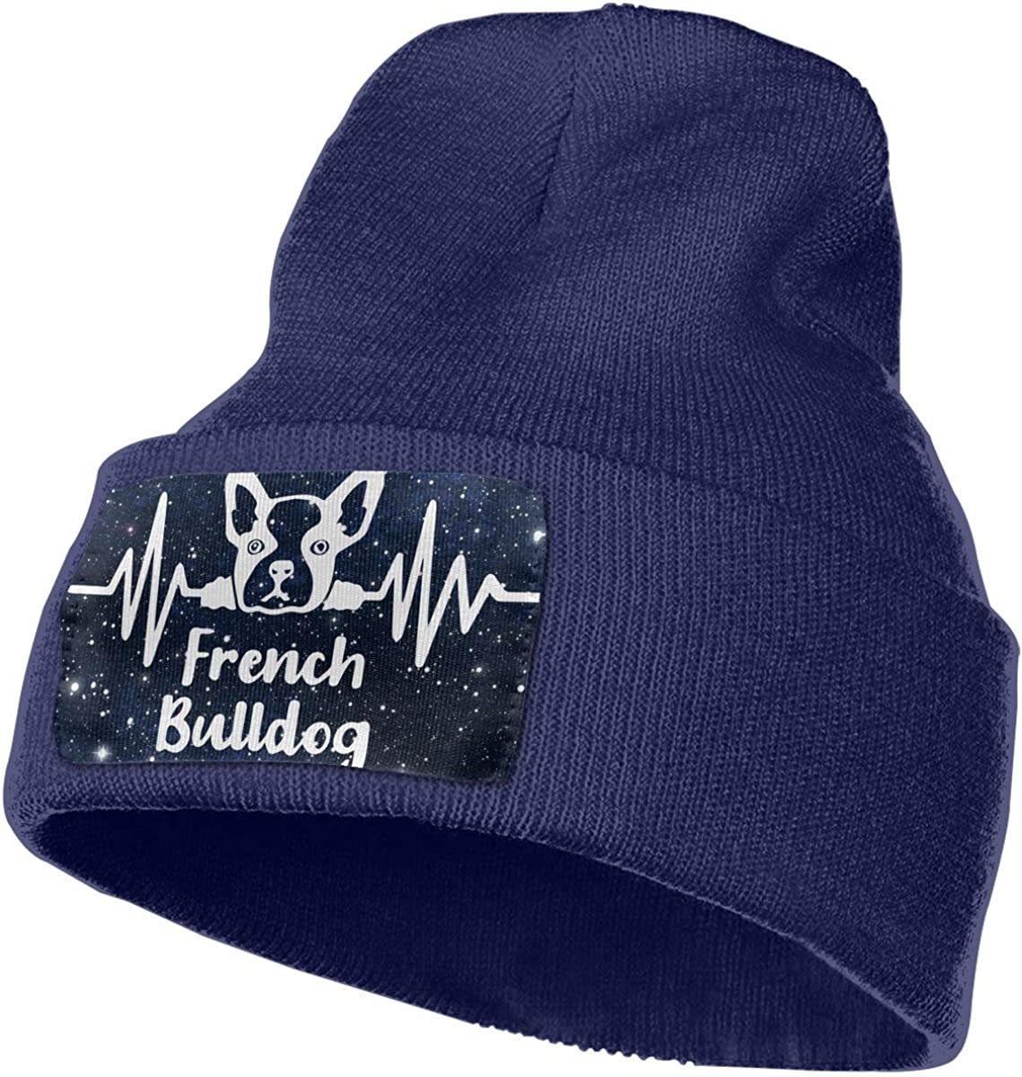 TAOMAP89 French Bulldog Frequency Men /& Women Skull Caps Winter Warm Stretchy Knit Beanie Hats