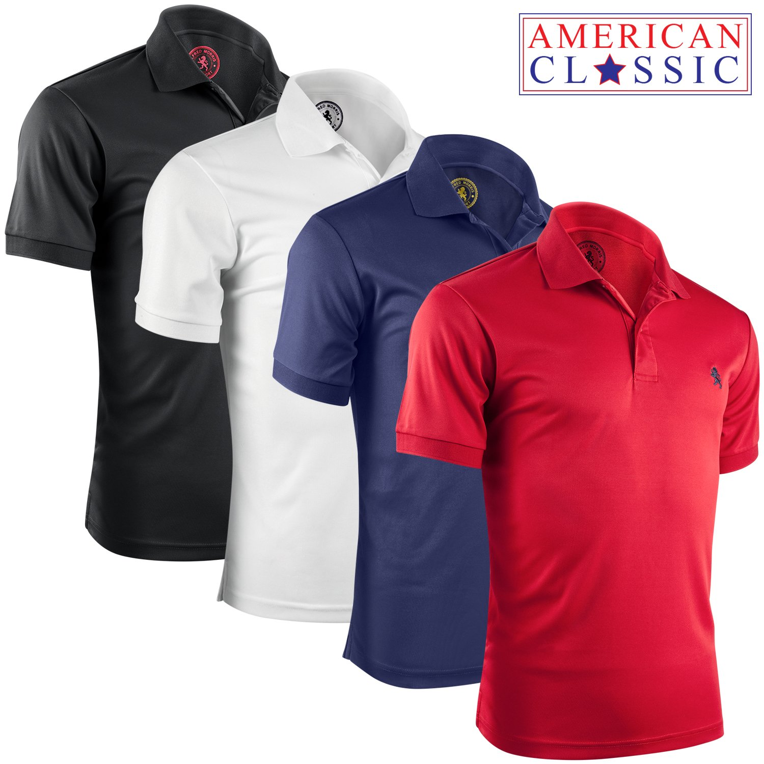 74ba09a98 SUPERIOR FITTING – Albert Morris traditional solid polo shirts for men are  sized professionally for a perfect, comfortable fit. Great for going out,  ...