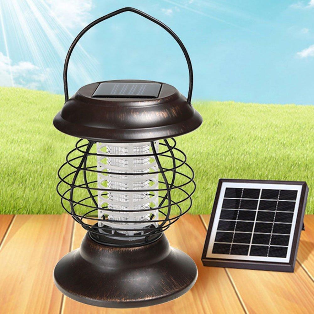 CPDZ Solare Esterno Intelligente zanzara Killer per zanzare Non tossiche Interne ed Esterne Trappola Sonno zanzare Fly Pest Catcher USB Anti-zanzara Lampada
