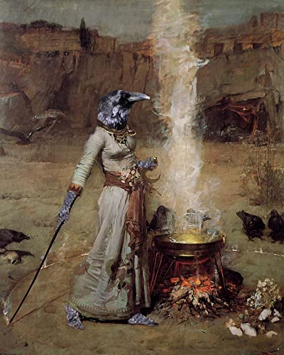 amazon com raven witch magick circle crow ritual witch medieval