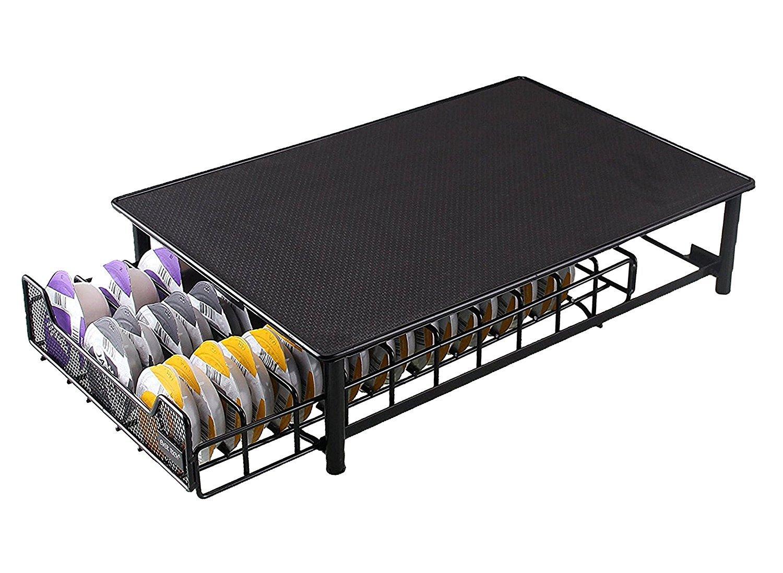 Mifri UK Tassimo Pod Holder | T-Disc Coffee Capsules | Bosch Tassimo Stand & Pod Storage Drawer | Anti-Vibration Design (BLACK 60)