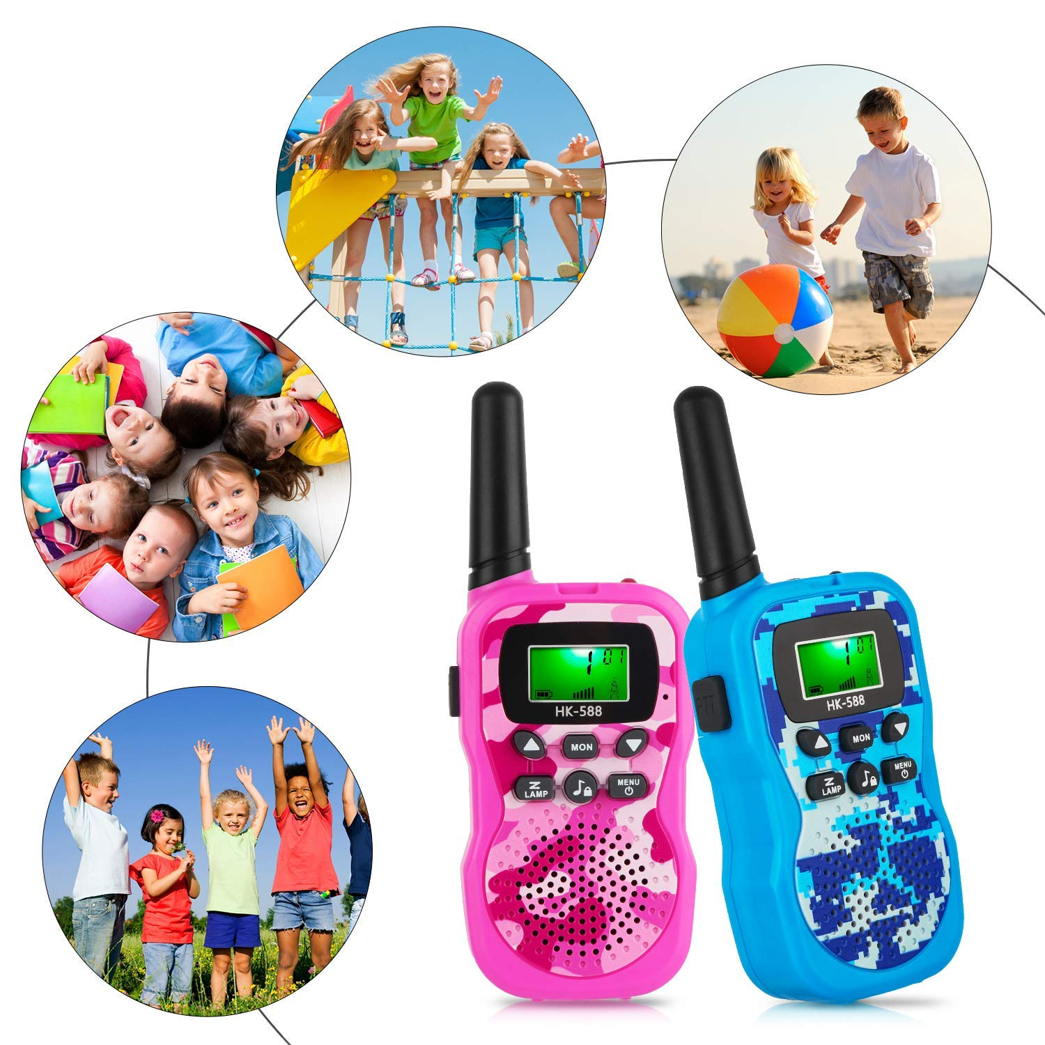 Walkie Talkies for Kids, Handheld Woki Toki Toys for Boys and Girls with Flashlight, License Free Kids Survival Gear for Hunting and Outdoor Adventure by VERDUO (Image #3)