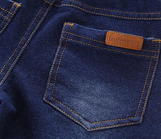 Happy Cherry Pantaloncini di Jeans Bambino con Tasche Jean Bermuda con Coulisse Pantaloni Corti Jean et/à Adatta 3-12 Anni