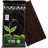 AMMA Organic Dark Chocolate - 100% Pure Cacao, No Sugar, No sweeteners. Delicious Keto Snack, Rich in Healthy Fats and…
