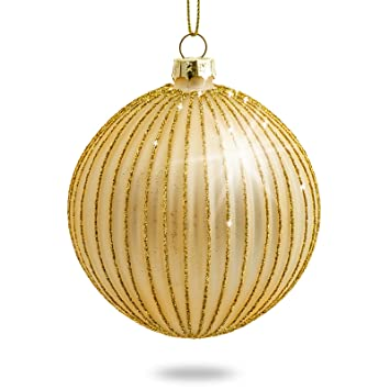 Ausgefallene Christbaumkugeln.Sikora 4er Set Ausgefallene Christbaumkugeln Highlights Aus Glas Gold Größe 8 Cm Farbe Modell Modell Helsinki Gold