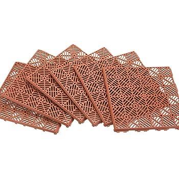 Duragrid 12 X 12 Interlocking Deck And Patio Tiles Pack Of 30