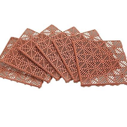 Interlocking Patio 11 1/2 Square Tile Flooring   6 Piece Set   Easy