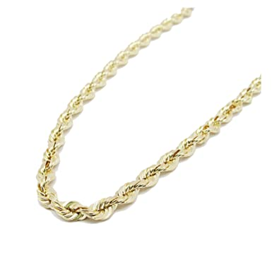 Italian Gold Chain >> Amazon Com Melano Creation Solid Yellow 14k Italian Gold Rope Chain