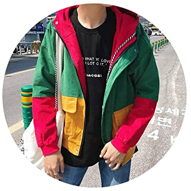 Amazon.com: Piiuiy Yuik Spring Summer Corduroy Jacket Mens ...