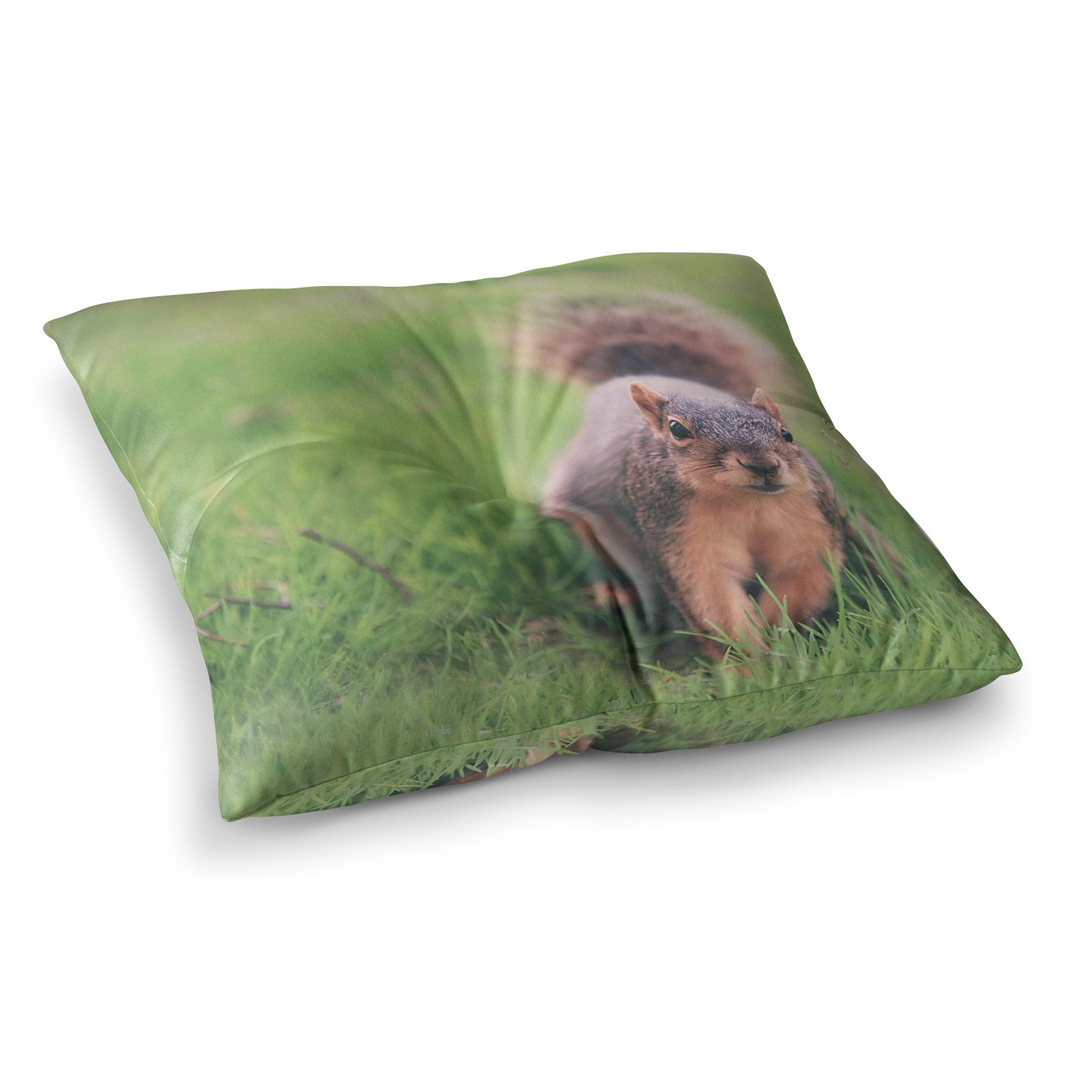 Kess InHouse Angie Turner Squirrel Brown Animals 23 x 23 Square Floor Pillow