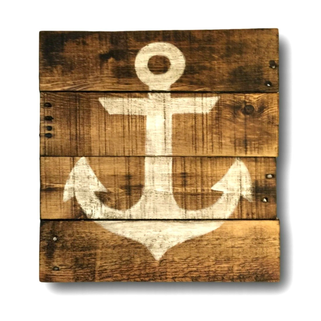 Amazon.com: Nautical Wall Hanging/ Lake House Art/ Anchor Art/ Beach ...