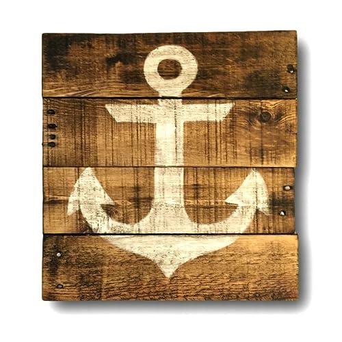Amazon.com: Nautical Wall Hanging/ Lake House Art/ Anchor Art/ Beach ...
