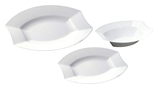 TTG 75-Piece Plastic Dinnerware Set | Vogue Collection | (25) Dinner Plates  sc 1 st  Amazon.com & Amazon.com: TTG 75-Piece Plastic Dinnerware Set | Vogue Collection ...