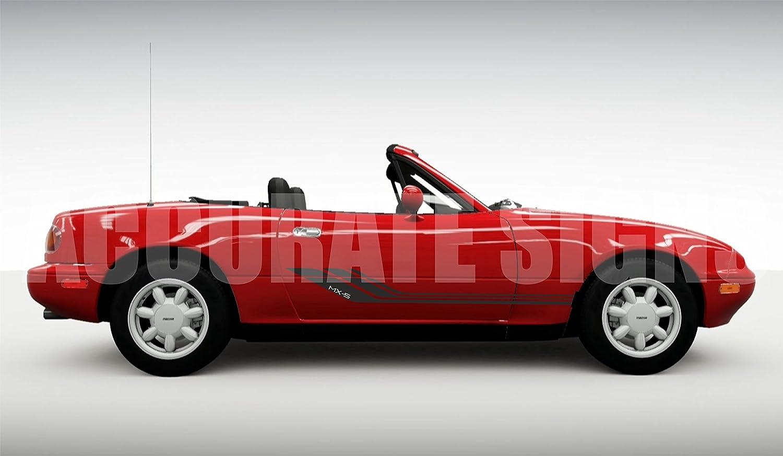 Accuratesigns mazda mx5 graphics decal sticker kit amazon co uk car motorbike