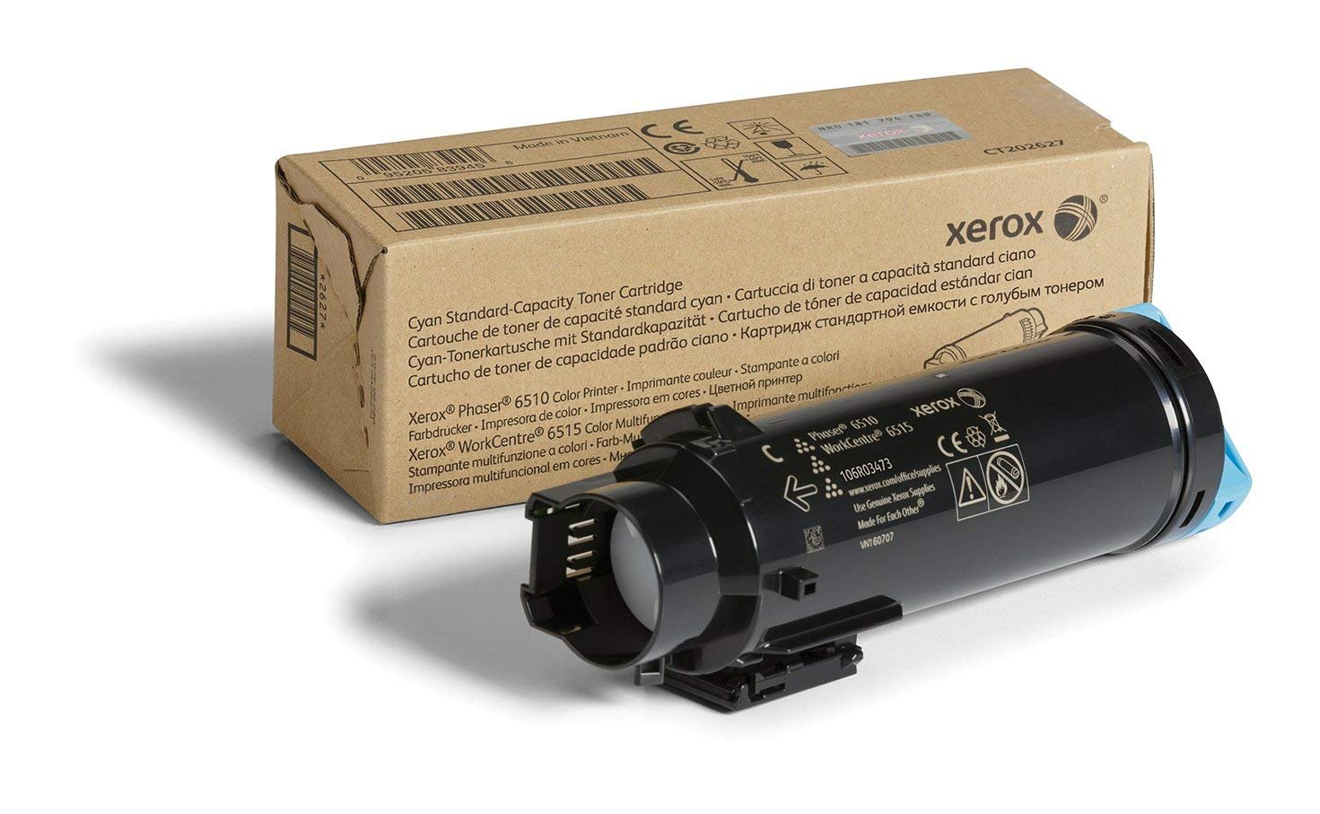 Xerox Phaser 6510/Workcentre 6515 Cyan Standard Capacity Toner Cartridge (1,000 Pages) - 106R03473