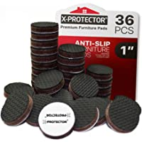 X-Protector Grippers Premium 36 pcs 1 Best Non Slip Pads Rubber Feet-Furniture Floor Protectors for Keep in Place…