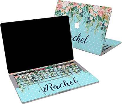 "Aqua Polka Dot  Keyboard Cover Skin for Macbook Pro 13/"" 15/"" 17/"" //New Air 13/"""