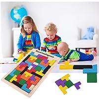 DDG EDMMS Tetris-Puzzle aus Holz, Tetris, Tangram, Brain Teaser, Lernspielzeug für Babys