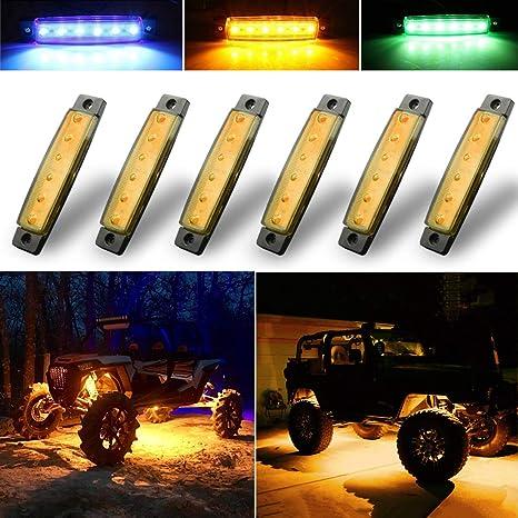 Amazon.com: Botepon - Juego de 6 luces LED de roca, tira de ...