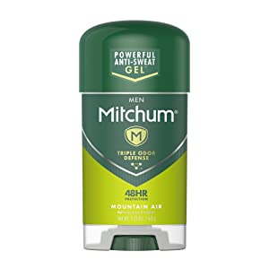 Mitchum Antiperspirant Deodorant Stick for Men, Triple Odor Defense Gel, 48 Hr Protection, Dermatologist Tested, Mountain Air, 2.25 oz