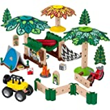 Fisher-Price Wonder Makers Design System Soft Slumber Campground - 60+ Piece Building and Wooden Track Play Set for Ages…