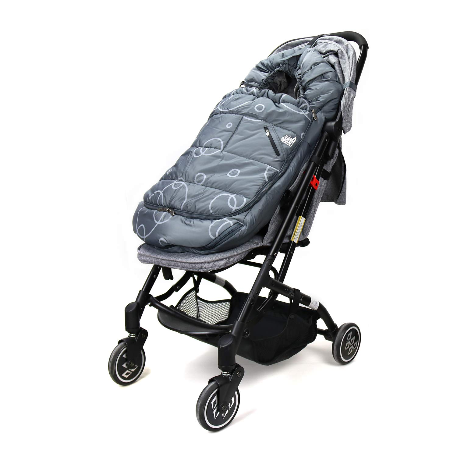 Wonder buggy Winter Outdoor Tour Waterproof Baby Infant Stroller Sleeping Bag Warm Footmuff Sack with Plush Interior (Gray) by Wonder buggy (Image #6)