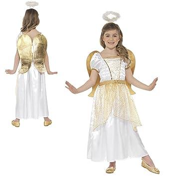 Toddler 3,4 Kids Girls Christmas Fairy Gold Angel Princess