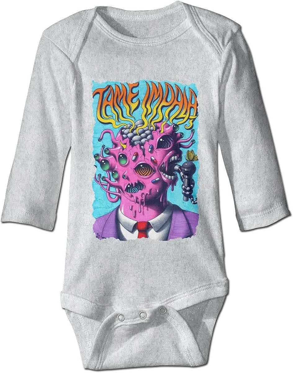 Smooffly Newborn Baby Boys Girls Tame Impala Long-Sleeve Bodysuit One-Piece Playsuit
