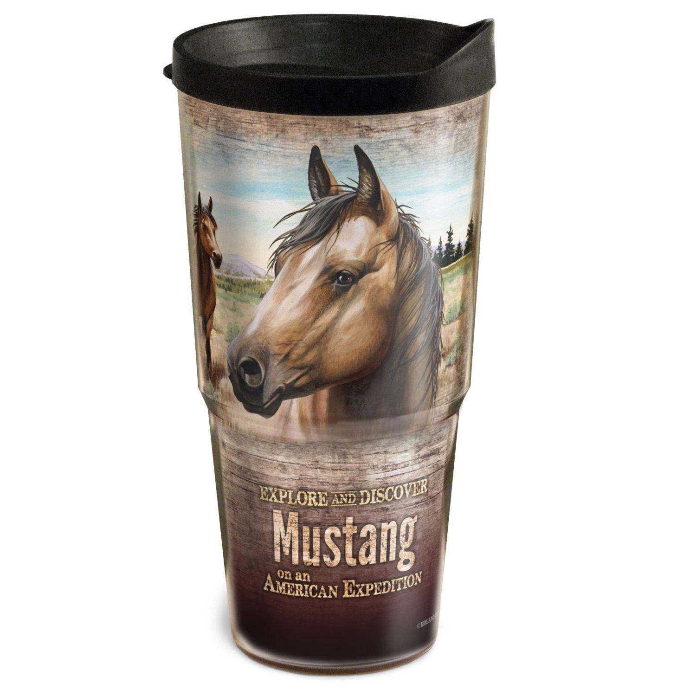 Wildlife Serie American Mustang 24 Unze doppelwandig Acryl-Zahnputzbecher