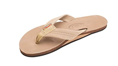 8f359fb0a Rainbow Mens Premier Leather Sandal Sierra Brown Size S