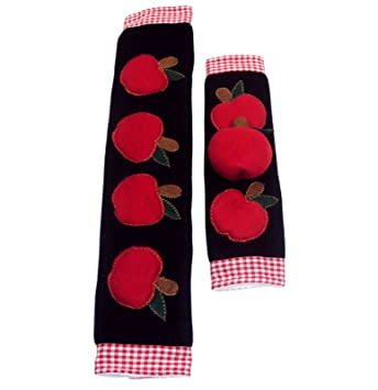 Kitchen Appliance Handle Covers With Apple Design, Stove Handle Covers,  Refrigerator Handle Covers Wrap