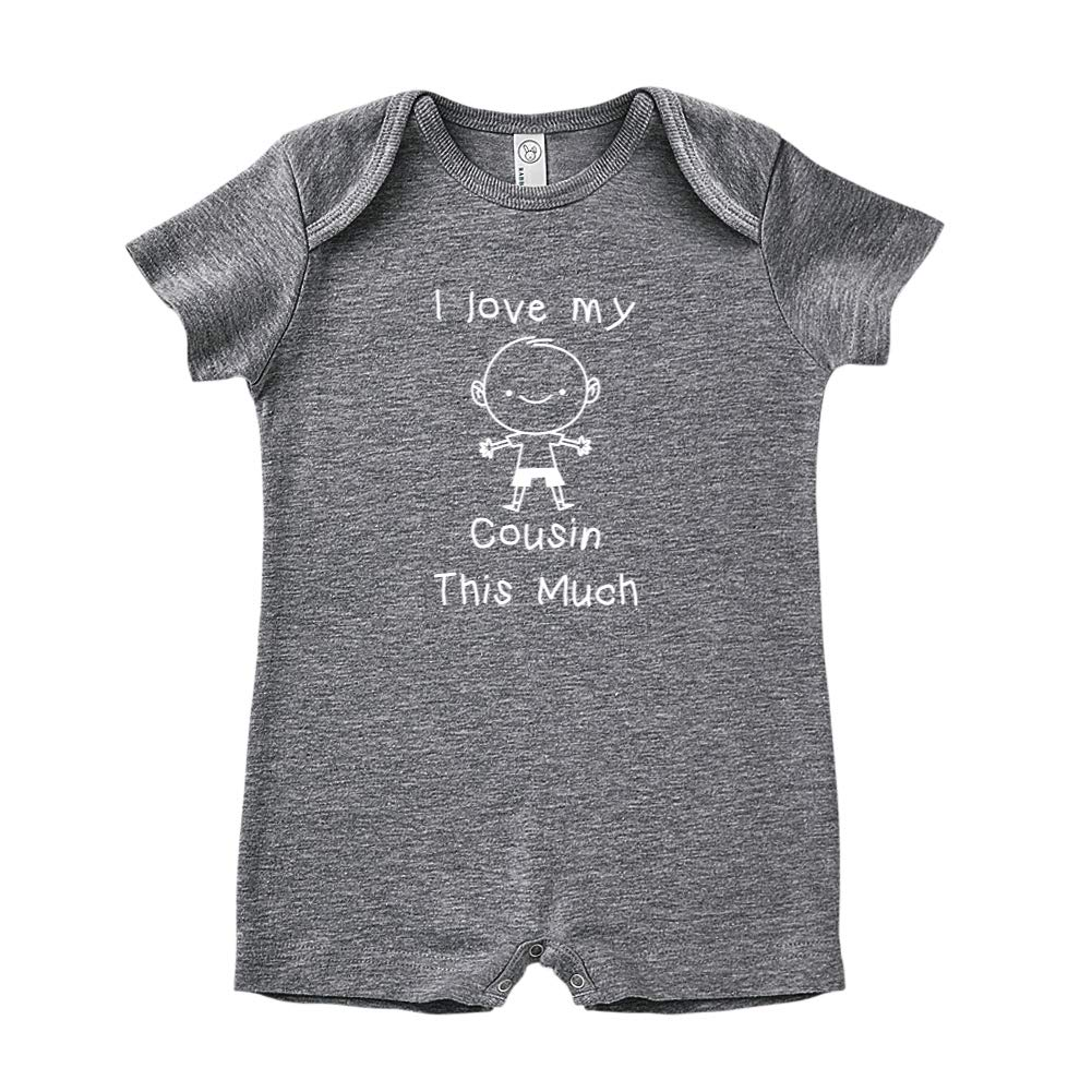Personalized Name Baby Romper Little Boy I Love My Cousin This Much