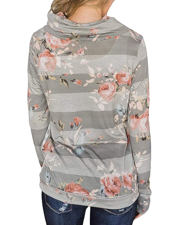 Gugio Womens Pullover Long Sleeve Hoodies Coat Loose Casual Sweatshirts with Pocket