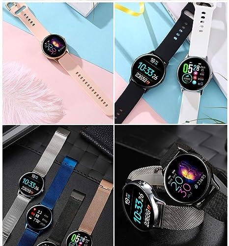 Maskura Fitness Trackers Reloj Inteligente con Bluetooth, Monitor ...