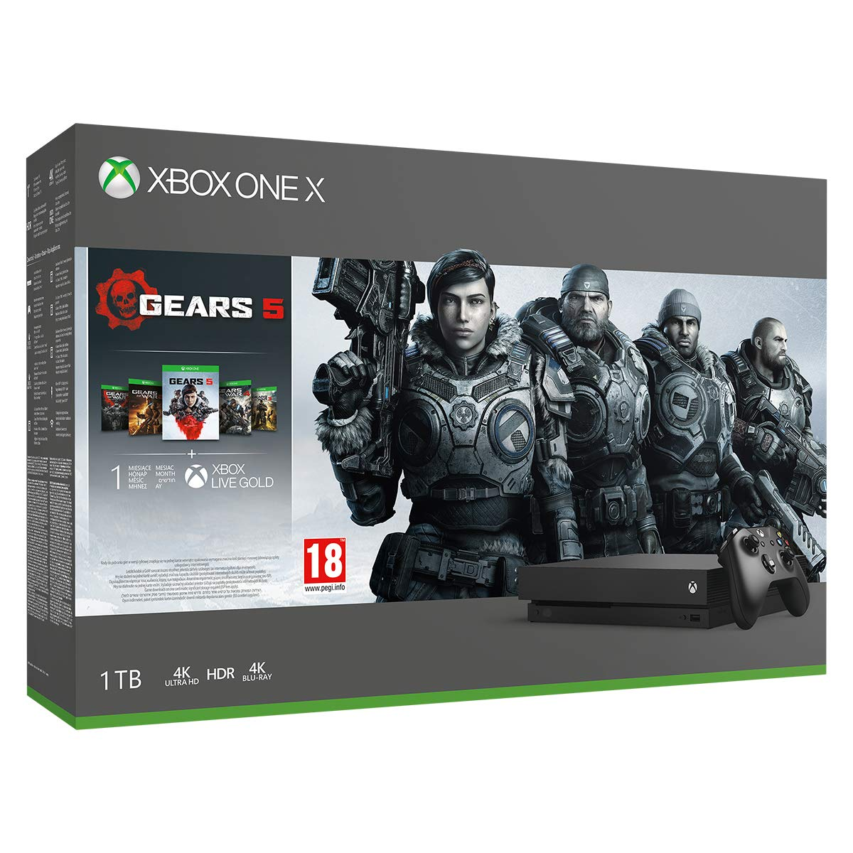Microsoft Xbox One X 1TB console - Gears 5 Bundle product image