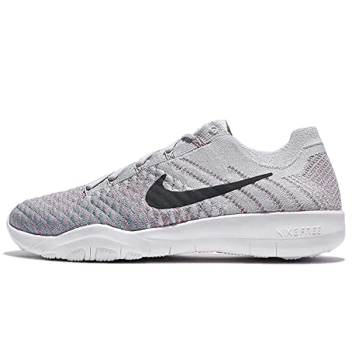 da35e55794265 NIKE Women's WMNS Free TR Flyknit 2, Pure Platinum/Anthracite, 7 US
