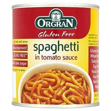 Orgran Espaguetis En Salsa De Tomate Trigo Libre Y Sin Gluten (220g): Amazon.es: Hogar