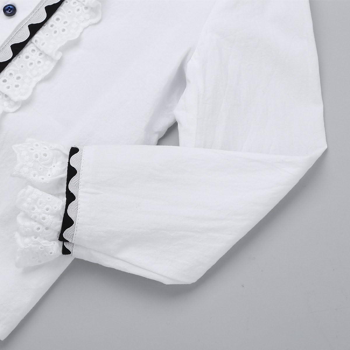 iiniim Conjuntos de Ropa Uniforme Escolar para Niñas Traje de Algodón Camisa Blanca Blusa Mangas Largas Falda Cuadros Colegio Escuela Vintege Elegante Primavera Invierno Chica Blanco 4 Años: Amazon.es: Ropa y accesorios