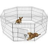 Mumoo Bear Heavy Duty Pet Playpen Dog Kennel Pen Exercise Cage, Black
