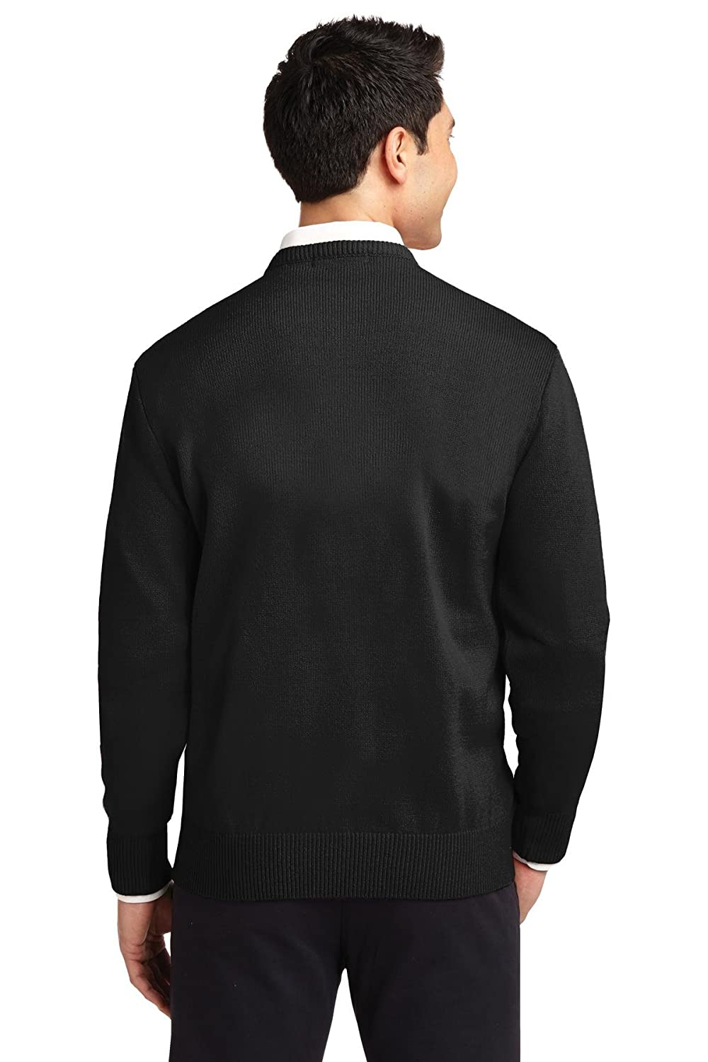 Port Authority Mens Value V-Neck Sweater/_Black/_X-Small