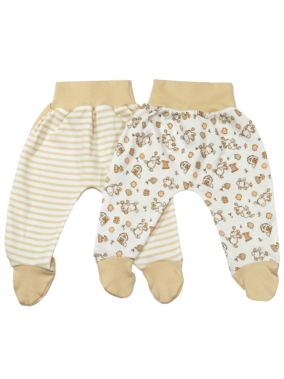 Baby Strampelhose mit Fu/ß Babyhose mit Fu/ß Jungen Baby Hose mit Fu/ß M/ädchen. MEA BABY Unisex Baby Hose mit Fu/ß aus 100/% Bio-Baumwolle im 3er Pack