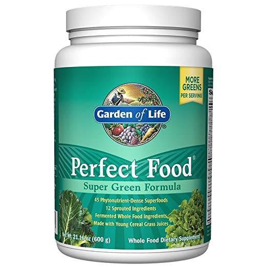 Garden of Life Whole Food Vegetable Supplement - Perfect Food Green Superfood Dietary Powder, 600g