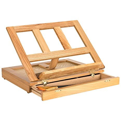hollyhome ajustable mesa escritorio de madera caja caballete de ...