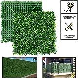 سياج حماية من لسكسياو مقاس 20×20 انش/الواح من الخشب الصناعي بشكل نباتات مُقلّمة لتوفير حماية من الاشعة فوق البنفسجية في…