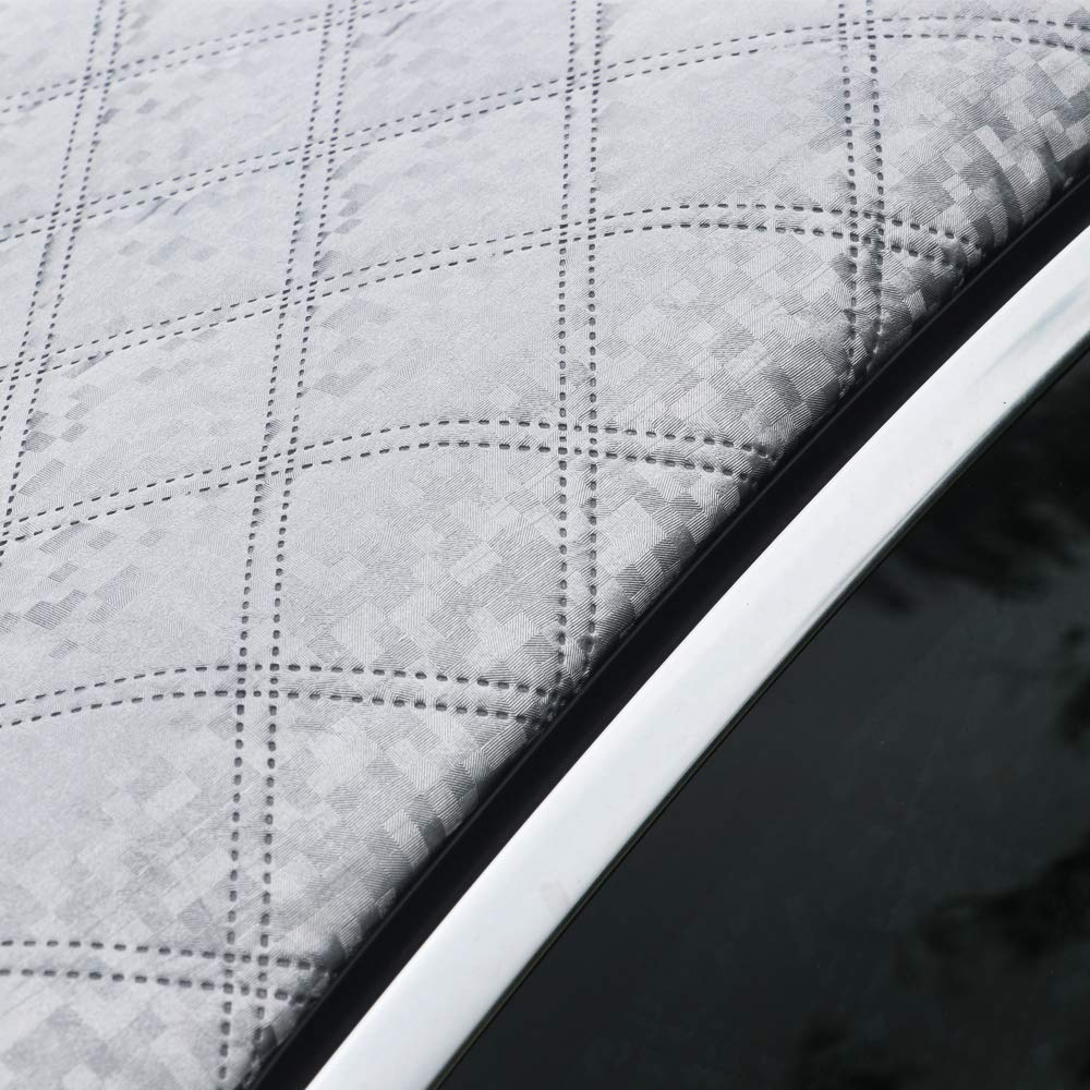 Silver - 183x116cm Car Windscreen Magnetic Snow Cover Silver - 183x116cm Snow Ice Frost Sun UV Dust Water Resistant Fits SUV Truck Most of Cars Oversized Car Windshield Cover Protector