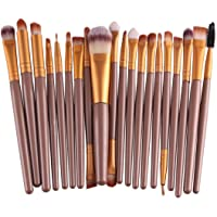 Misaky make up 20 Pcs/Set Makeup Brush Set Gold#