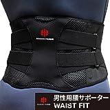 【IWAMA HOSEI】 腰サポーター コルセット 腰 サポーター 男性用 ウエスト70~100cm WAIST FIT