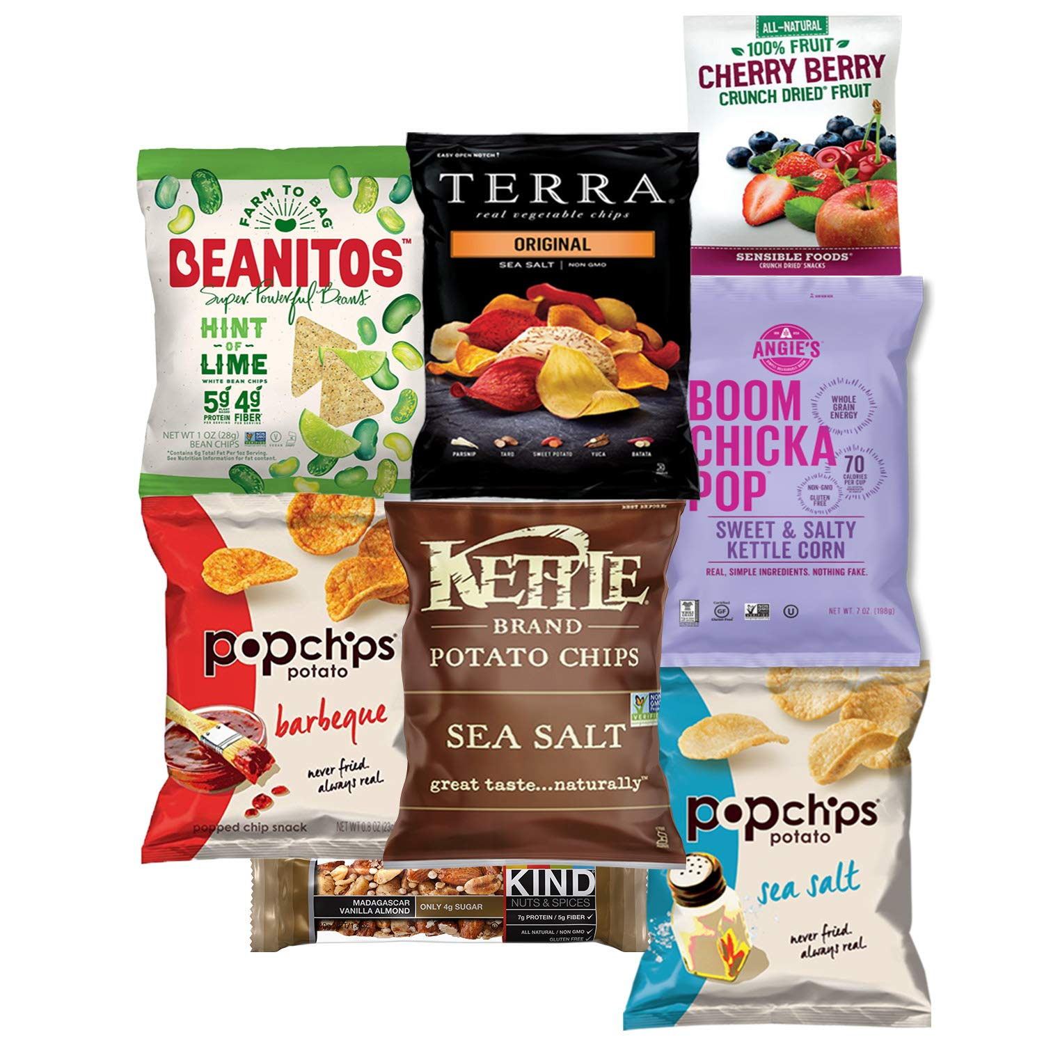 Premium NON GMO & Gluten Free Gourmet Healthy Snacks Gift Box Care Package Variety Pack (15 Count) by Variety Fun by Custom Varietea (Image #3)