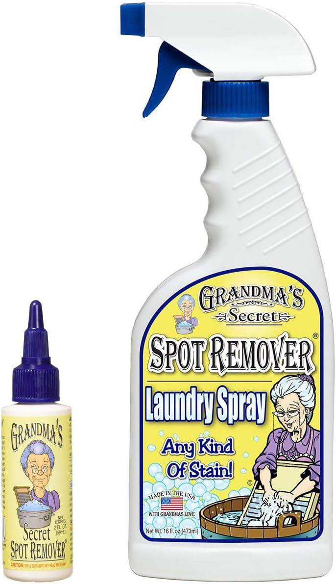 Grandma's Secret Spot Remover Laundry Spray - 16 oz and 3 oz Travel Size Combo